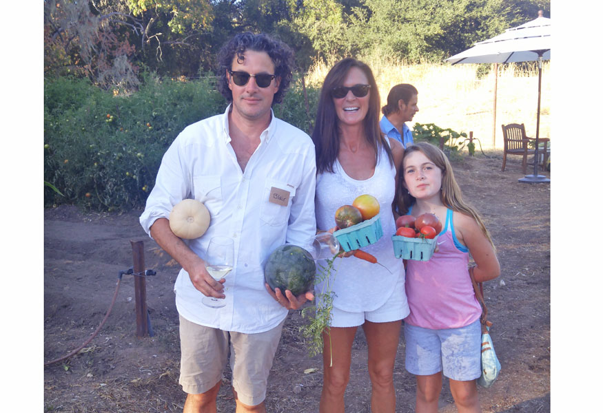 Sonoma Valley Estate Grown Wine club Party at Beltane Ranch Produce Garden Pick your own heirloom tomatoes