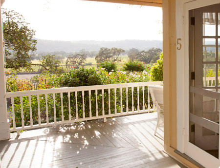 Sonoma Valley Bed & Breakfast Farm Stay Inn Number #5 vineyard views