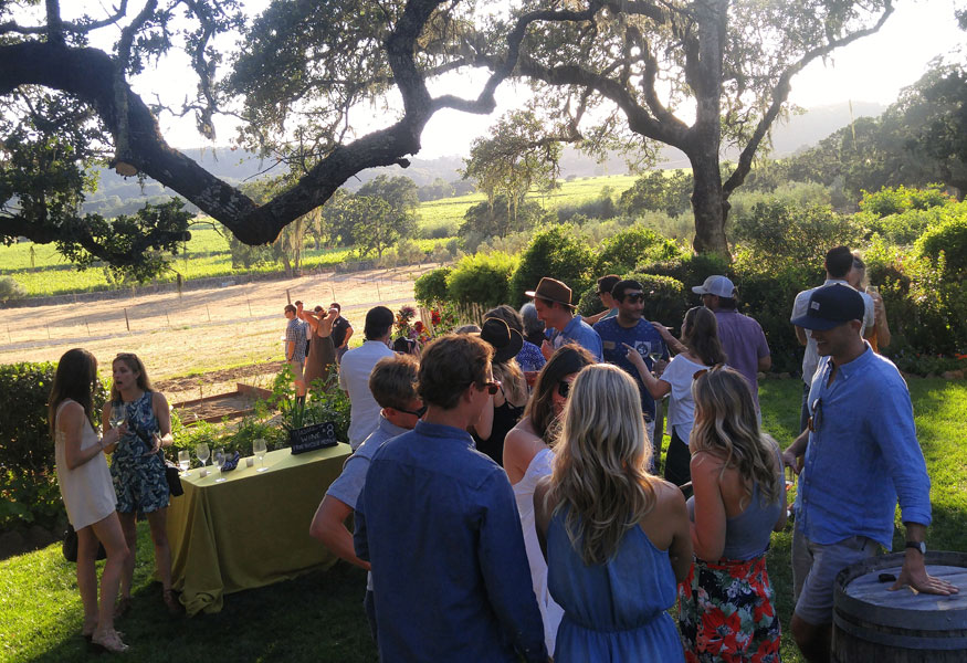 Sonoma Valley Event Venue Wine Club Release Party Event Viineyard View
