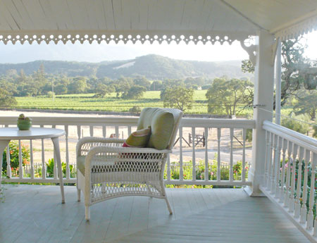 Sonoma Valley Bed & Breakfast Farm Stay Inn Number #2 vineyard views